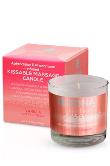 Массажная свеча для оральных ласк Dona Kissable Massage Candle Vanila Buttercream  135 г