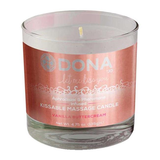 Массажная свеча для оральных ласк Dona Kissable Massage Candle Vanila Buttercream  135 г фото 1
